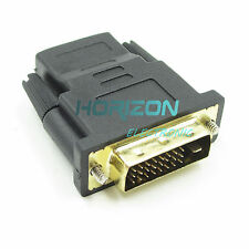 2Pcs Dvi Male to Hdmi Female adapter Gold-Plated M Converter Hdtv Lcd 24+1Pin