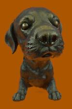 Labrador Adorable Puppy Art Deco RETRIEVER Dog Statue Figurine Bronze Decorative