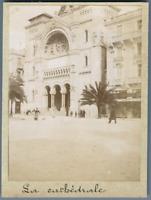 Tunisie, Tunis (تونس), Cathédrale Saint Vincent de Paul  Vintage citrate print.