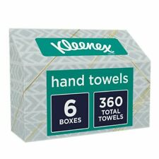 (6 BOXES) KLEENEX EVERYDAY DISPOSABLE HAND TOWELS-60 COUNT EACH BOX SHIPS ASAP