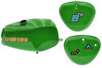 Büffeltank Set Hoch-Tank für Simson S50 S51, Gelbgrün, innen versiegelt hellgrün