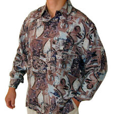 """New 100% Silk Shirts for Men S,M, L, Brand Name """"SURPRISE"""" NWT Print #105"""