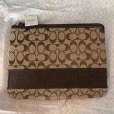 New Coach F61716 Mahogony Stripe Tablet Sleeve