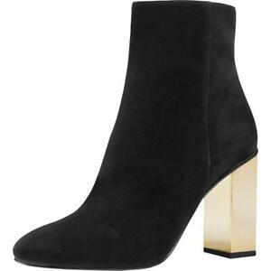 MICHAEL Michael Kors Womens Petra Suede Almond Toe Ankle Booties Heels BHFO 6844