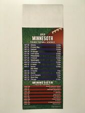 Nfl 2019 Minnesota Vikings Magnet Schedule / Also Minnesota Golden Gophers - New