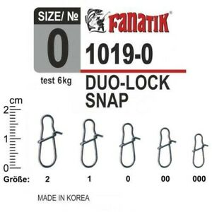 FANATIK Duo-Lock Snap 1019 size 000, 00, 0, 1, 2 Fast Fishing Connector