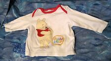 Great Disney Baby Pooh Bear T Shirt with red trim 3-6 months 100% cotton