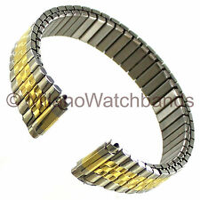 10-14mm Timex Expansion Band Stainless Steel Two Tone Ladies Watch Band TX725T