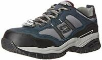 Skechers Mens Grinnel Low Top Lace Up Walking Shoes, Navy/Gray, Size 9.0 aDDh US