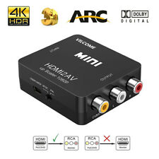 Hdmi To Av Adapter Converter Cable Cvbs 3Rca 1080P Composite Audio Video for Tv
