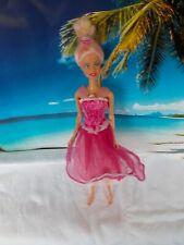 Barbie Puppe, mit rosa Kleid, blonde Haare