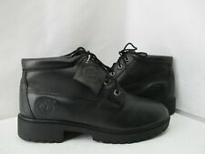 TIMBERLAND NELLIE Black Leather Waterproof Lace Ankle Boots Size 8 Style 28360