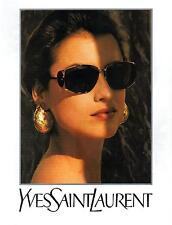 ▬► PUBLICITE ADVERTISING AD YSL Yves Saint Laurent Lunettes eyewear 1992