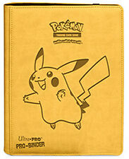 POKEMON PIKACHU 9 PRO ULTRA PRO BINDER A4 HOLD 360 CARDS ALBUM/ FOLDER PORTFOLIO