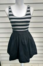 Forever 21 Party Dress, Stripe Top with Black Bottom. Size Medium