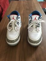 Nike Air Jordan 3 III Retro GS Youth Kids True Blue 2016 Size 6.5y 854261-106