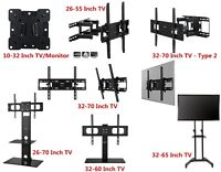 Fixed, Tilt or Full Motion TV Wall Mount Bracket 26 32 40 42 46 50 55 60 65 70''
