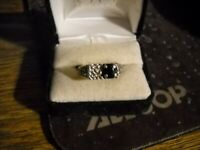 ~Sterling Silver Sapphire Ring Size 12~