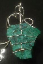 Ajoite, Shattukite and Papagoite pendant #7 new Cornelia mine Arizona