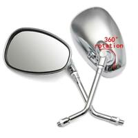 Chrome 10mm Mount Rearview Mirrors 4 Honda Motorcycle Cruiser Rebel Shadow VT