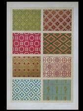 VELOURS SOIERIES 16e - LITHOGRAPHIE 1877  DUPONT-AUBERVILLE, ORNEMENT DAMAS