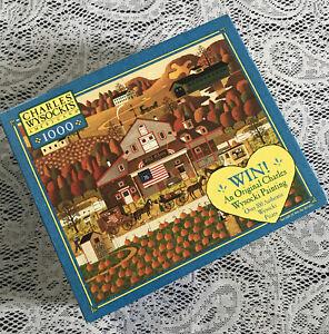 NEW SEALED CHARLES WYSOCKI PUZZLE 1000 PIECE Jigsaw OLD GLORY FARMS