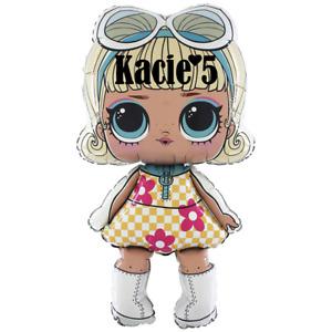 LOL Surprise doll Go -Go girl foil balloon PERSONALISED  Supershape Genuine