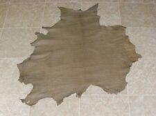 (XVA6799-2) Hide of Green Brown Reptile Print Lambskin Leather Hides Skin