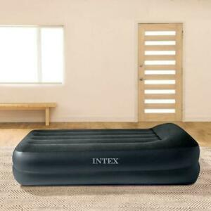 """Intex Dura Beam Air Bed 16.5"""" Twin Size Airbed Pil Low Rest Raised Fiber Tech"""
