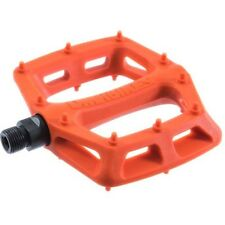 DMR V6 Pedals Flat Platform MTB Bicycle Bike Dual DU Bushings 327g Orange Nylon