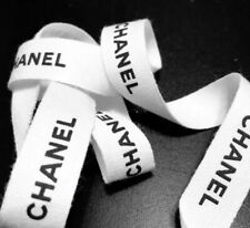 """1 Yard Chanel """"Chunky� white gift wrap ribbons 36� inches long"""