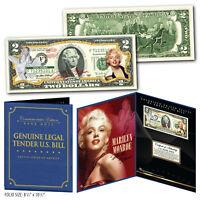 MARILYN MONROE Genuine Legal Tender US $2 Bill in 8x10 Collectors Display