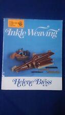 Inkle Weaving by Helene Bress - Vintage 1975 Revised Edition 1990
