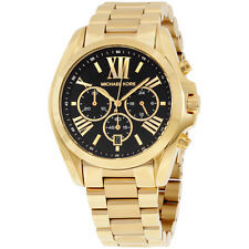 Michael Kors Bradshaw Black Dial Gold Tone Stainless Steel Women's Watch MK5739