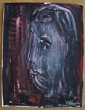 JACQUES CHEVALIER (1924/1999)  Gouache  - PORTRAIT  1954  - Signé
