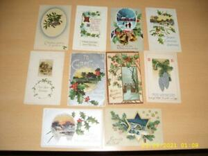 CHRISTMAS - EMBOSSED   LARGE COLLECTION OF VINTAGE  POSTCARDS