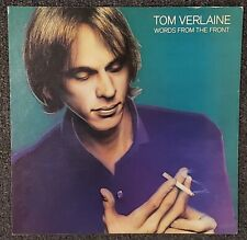 Tom Verlaine Worlds from the Front 1982 Cardboard Promo Poster Flat Television