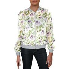 Inc para Mujer Estampado Floral De Organza Acanalado Trim Bomber Jacket BHFO 0031