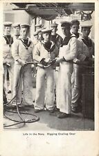 POSTCARD   SHIPS    ROYAL  NAVY   Rigging  Coaling  Gear
