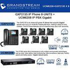 Grandstream GXP2135 IP Phone 8-UNITS with UCM6208 8 Port IP PBX Gigabit New