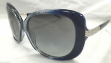 Bvlgari Sunglasses AUTHENTIC 8105B Butterfly Silver Blue Crystal Square Strass