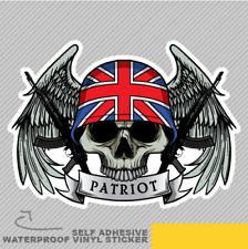 Militar Calavera Patriot Con Ventana Pegatina Calcomanía Vinilo Bandera del Reino Unido Coche Furgoneta Bicicleta 2442