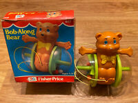 Vintage Fisher Price #642 Bob Along Bear Pull Toy 1978