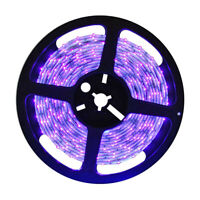 5m UV LED String Light Waterproof Germicidal Stage Party Ribbon Tape Lamp R1BO