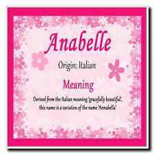 Anabelle Personalised Name Meaning Coaster