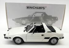 Minichamps 1/18 pressofuso - 100 121664 FIAT X1/9 1975 Auto Modello Bianco