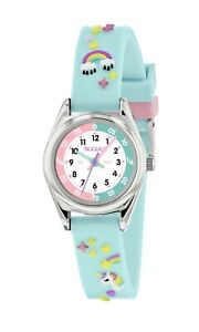 Tikkers Aqua Green 3D Unicorn Theme Time Teacher Rubber Strap Watch - NTK0019