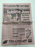 GAZZETTA DELLO SPORT 27 NOVEMBRE 1996 JUVENTUS CAMPIONE DEL MONDO DEL PIERO