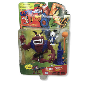 Earthworm Jim Peter Puppy Action Figure Re Play 2002 Sealed