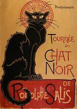 """TARGA VINTAGE """"TOURNEE DU CHAT NOIR""""Pubblicità, Advertising, Poster, Retro Plate"""